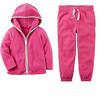 Розовый спортивный флисовый костюм Carters для девочки