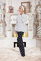 Стильный домашний костюм - пижамка, материал двунитка, рисунок бантики