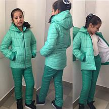 """Детская зимняя куртка для девочки """"Горошинка"""" с капюшоном (2 цвета), фото 2"""