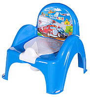 Горшок-кресло Tega  CARS синий