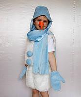 Детский карнавальный новогодний костюм Снеговик № 1