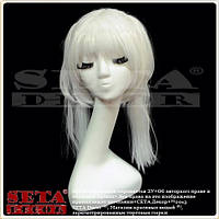 Белый парик Аниме Косплей с 2 хвостиками карнавальный