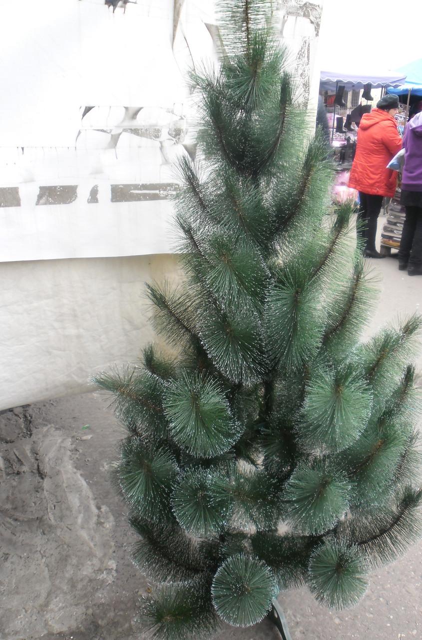 Новогодняя искусственная сосна  с инеем  темно-зеленая 1,65 метра