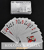 Карты игральные пластиковые «Silver Euro»