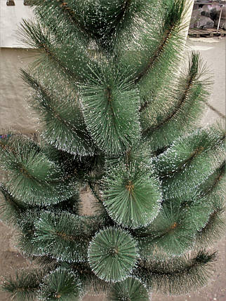 Новогодняя искусственная сосна  с инеем  темно-зеленая 1,65 метра, фото 2