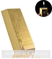 Зажигалка настольная Слиток золота (Обычное пламя) №XT-1714
