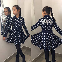 """Приталенное трикотажное детское платье """"Style"""" с расклешенной юбкой (3 цвета), фото 3"""