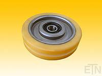 Ролик,  VAL ø125 / 17 x 30 мм VU 93 °, м. Groove, 2 x Bearing 6203 2RS, EL 24 mm, OTIS, запчасти к лифту