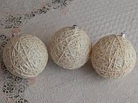 Эксклюзивные шары на елку ручная работа паутинка 8см