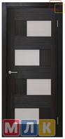 ОМИС Двери ламинированные пленкой ПВХ Серия ПВХ 5-й элемент Домино 2, стекло сатин, 2000*700*34 мм