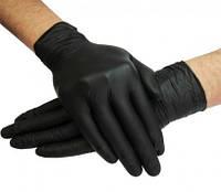 Перчатки нитриловые черные 5 шт размер S