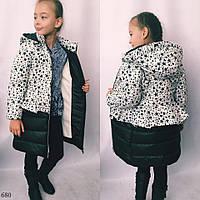 Куртка длиннаятеплаяна девочку 122,128,134