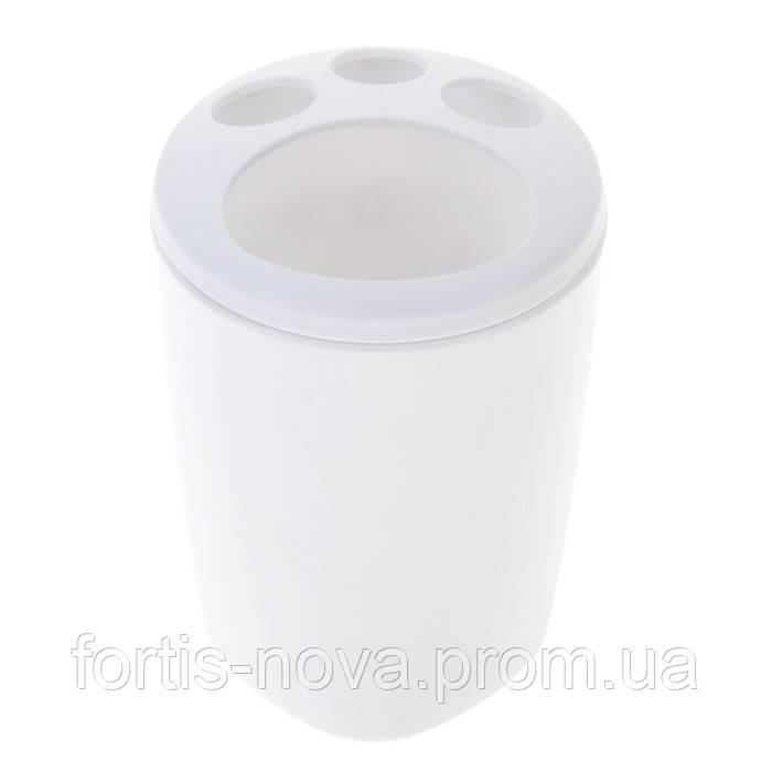 Подставка для зубных щеток Aqua (снежно-белый)