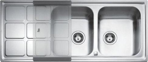 Мойка кухонная TEKA CUADRO 2B 1D полированная