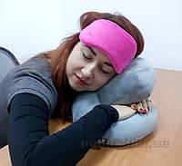 Подушка творческий офис для отдыха с маской для сна и бирушами
