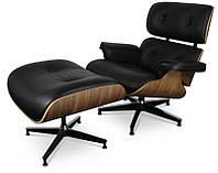 Дизайнерское кресло Релакс с оттоманкой реплика Eames lounge chair and ottoman, бесплатная доставка Деливери