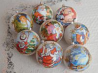 Новогодние шары, украшения на елку 10см, фото 1