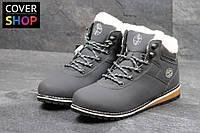 Женские ботинки в стиле Timberland, цвет - серый, материал - нубук, утеплитель - мех