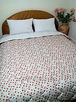 Одеяло зимнее шерстяное в сатине Билана Розочка Прованс 140х205 см