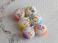 Новогодние игрушки шары с собачкой 6см разноцветные, фото 1