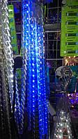Светодиодная гирлянда спираль, Тающая сосулька, Метеоритный дождь, 50 см, белая, Харьков, фото 1
