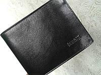 Кожаный бумажник мужской черный компактный(Турция)