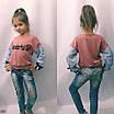 Кофта на девочку коттон 122,128,134,140, фото 2