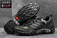 Кроссовки мужские adidas Terrex 380, черные с серым, материал - кожа, подошва - пенка