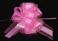 Бант-затяжка для упаковки подарков нежно-розовый (ш. ленты 7 см)