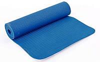 Коврик для фитнеса и йоги TPE+TC 6мм FI-6336-2