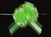 Бант-затяжка для упаковки подарков салатовый (ш. ленты 7 см)