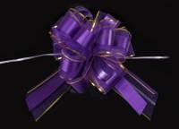 Бант-затяжка для упаковки подарков  фиолетовый (ш. ленты 7 см)