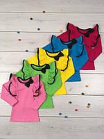 Блузка детская для девочки 817 Бантик, хлопок, интерлок. р.р.28-36.