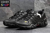 Кроссовки мужские adidas Terrex 380, черно - белые, материал - кожа, подошва - пенка