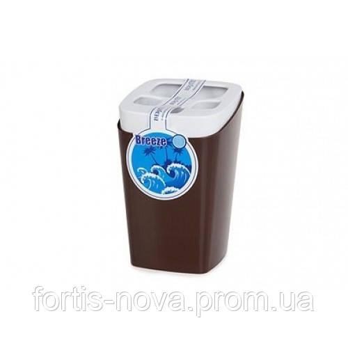 Подставка для зубных щеток Breeze (шоколадный)