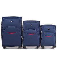 Чемодан сумка Suitcase 4 колеса набор 3 штуки синий, фото 1
