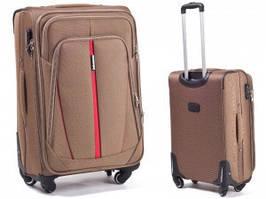 Чемодан сумка Suitcase 4 колеса набор 3 штуки песочный