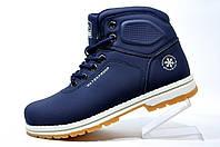 Женские зимние ботинки Baas на меху, Dark Blue\White
