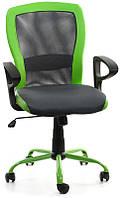 Кресло офисное для персонала LENO, Grey - Green Бесплатная доставка