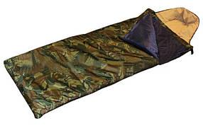 Спальный мешок одеяло с капюшоном камуфляж рр-185+35*72 см (SY-4083)