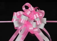Бант-затяжка для упаковки подарков бел./роз. (ш. ленты 5 см)