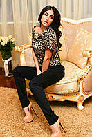 Женский комбинезон брюки и кофта на змейке, фото 1