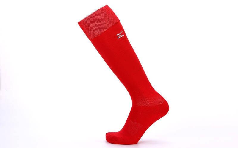 Гетры футбольные взрослые красные MIZUNO 95627-R