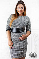 Трикотажное платье большие размеры