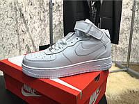 Кроссовки женские Nike Air Force 1 Mid White 18052 белые