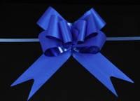 Бант-затяжка для упаковки подарков темно - голубой (ш. ленты 4,5 см)