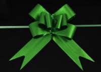 Бант-затяжка для упаковки подарков зеленый (ш. ленты 4,5 см)