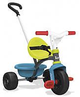 Детский металлический велосипед Smoby с багажником Зелено-голубой 740314