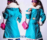 Детское зимнее пальто для девочки,S-Style