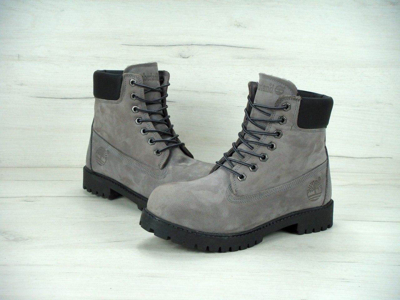 dd2791898 Ботинки мужские Timberland 30587 серые - Брендовая одежда от интернет- магазина «Trendy Shop»